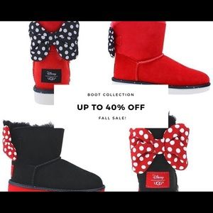 🖤Kids sweetie Minnie bow ugg boots❤️